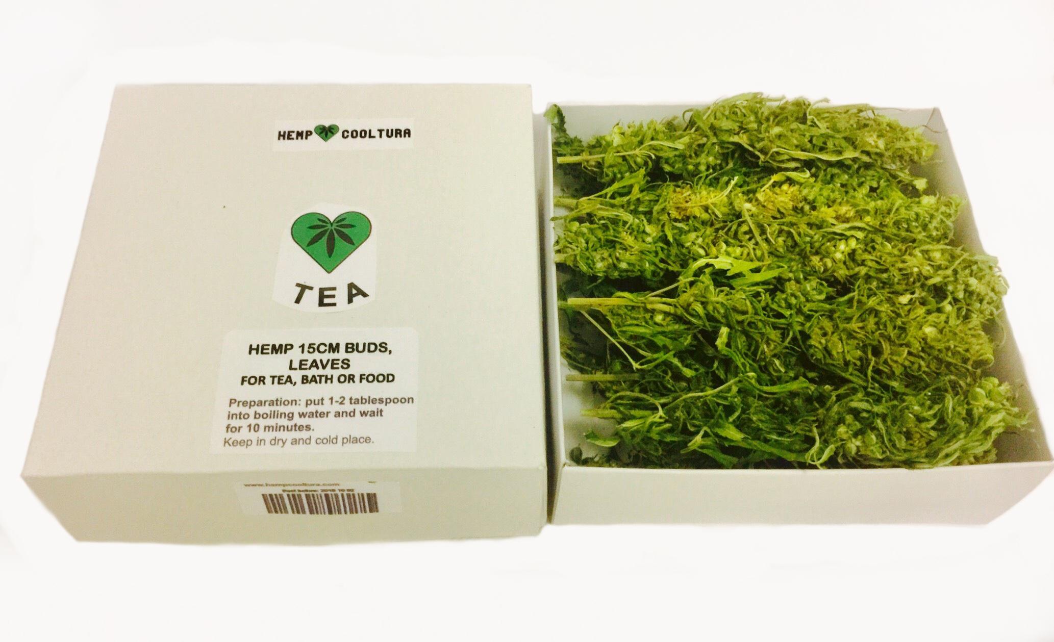 Hemp tea 15cm long whole buds 60g